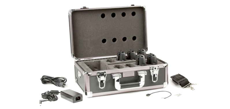 RF Receiver Charging – Carrying Case and Trays