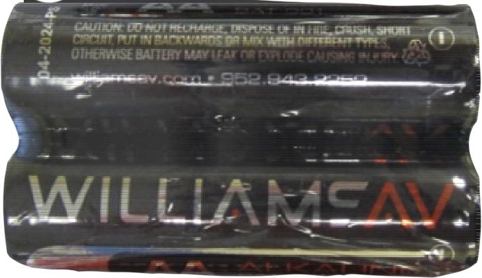 W-BAT 001-2 Two AA alkaline batteries