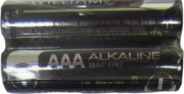 W-BAT 010-2 Two AAA alkaline batteries