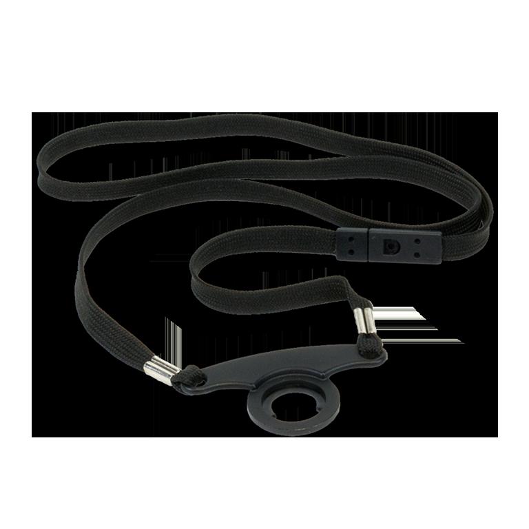 W-RCS 004 Black lanyard w/ strap