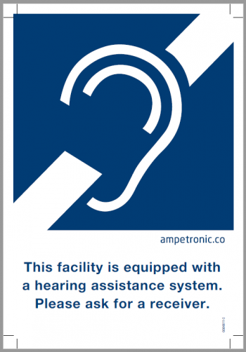 Assistive Listening Sign